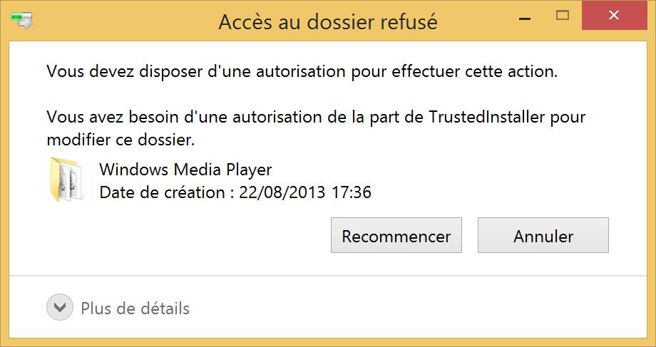 Supprimer des fichiers et dossiers bloqués