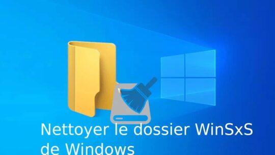 Réparer le dossier WinSys Windows